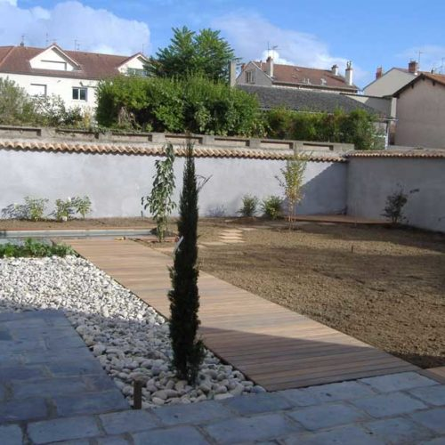 Dallage, terrasse & plantation végétale